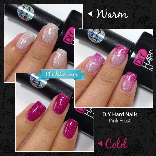Chickettes.com Review of DIY Hard Nails Color Changing Polish - Pink Frost