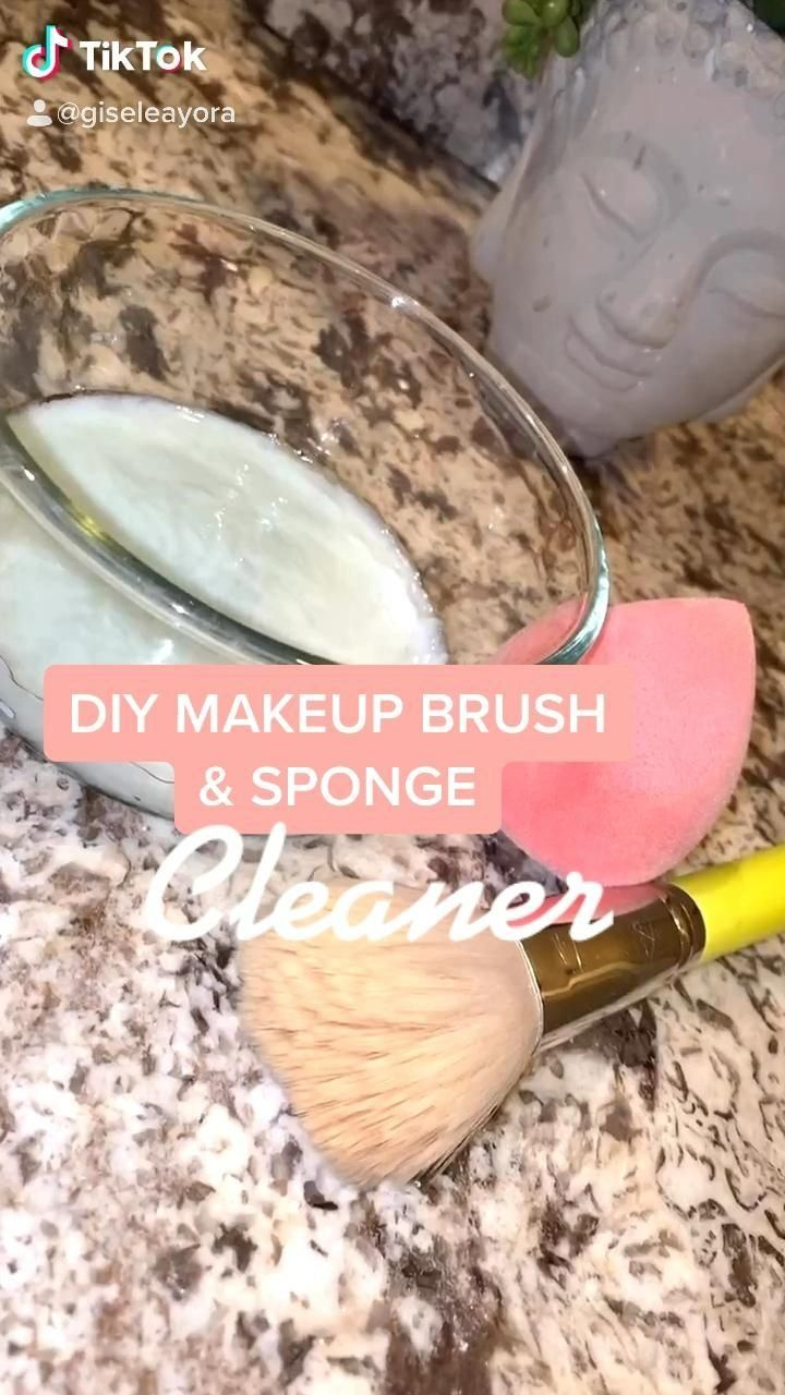 Diy Makeup Brush Sponge Cleaner Follow Me For More Tips 1000 Diy Makeup Brush Makeup Brushes Natural Cleaning Products