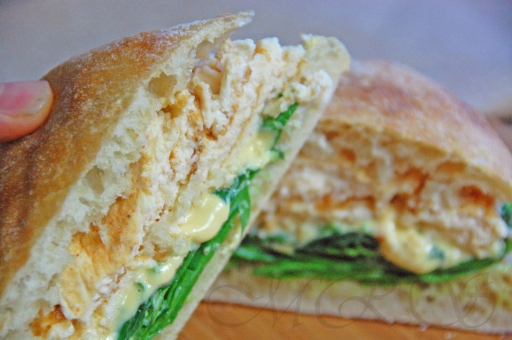 Ciabatta Breakfast Egg and Cheese Sandwich