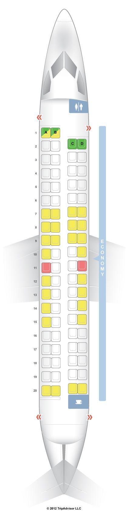 SeatGuru Seat Map WestJet Bombardier Q400 - SeatGuru