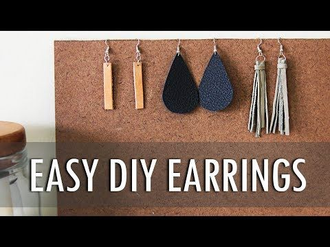 DIY | 3 Easy Leather Fringe, Teardrop, and Pendant Earrings