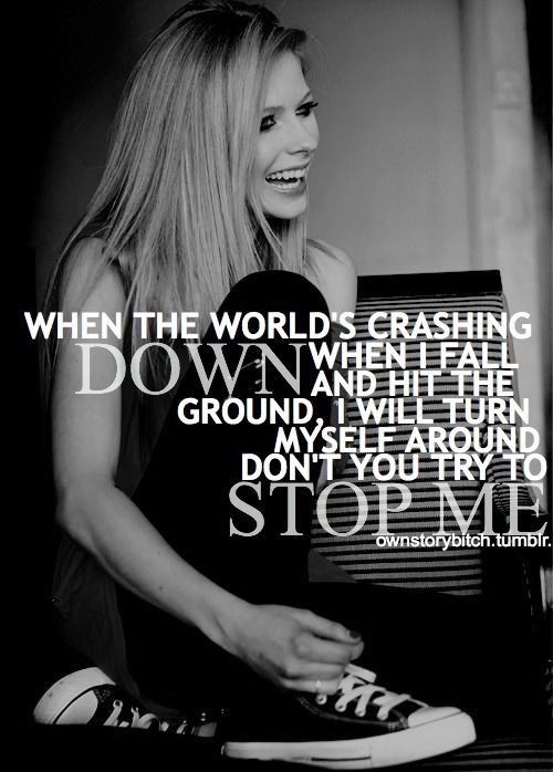 avril lavigne quotes tumblr | images of images of avril lavigne lyrics tumblr we heart it wallpaper ...