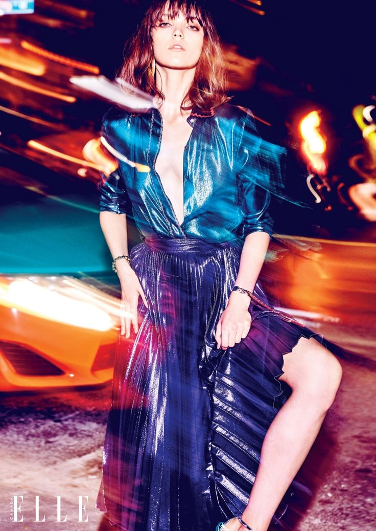 Friday Night Lights: Jenna Earle by Max Abadian for ELLE Canada December 2015 - Gucci Resort 2016