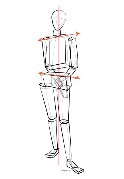 Paint Draw Paint, Learn to Draw: Drawing Basics: Contrapposto pose, how the body adjusts to balance
