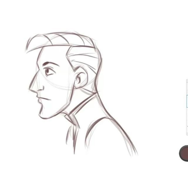 Well another time lapse sketch. #drawing #sketching #profile #timelapse #video #instavideo #drawingvideo #instaart #digitalart #piirtäminen #luonnostelu #luonnos #arr