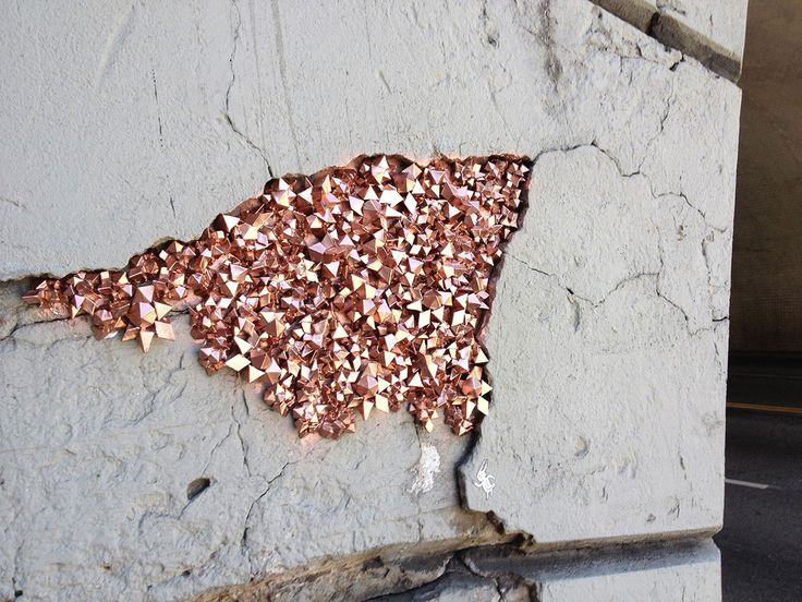 New Urban Geodes on the Streets of L.A. by Paige Smith http://www.thisiscolossal.com/2015/04/new-urban-geodes-on-the-streets-of-l-a-by-paige-smith/