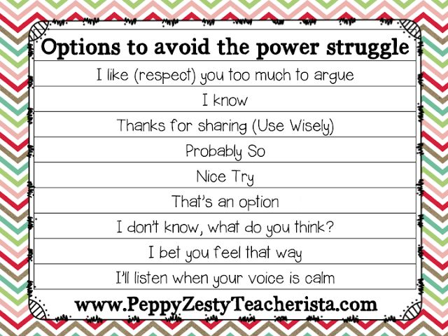 how to avoid power struggles with adults