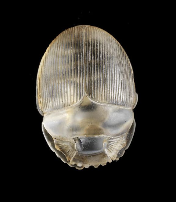 Egyptian rock crystal scarab. Late Period, circa 664-332 B.C.