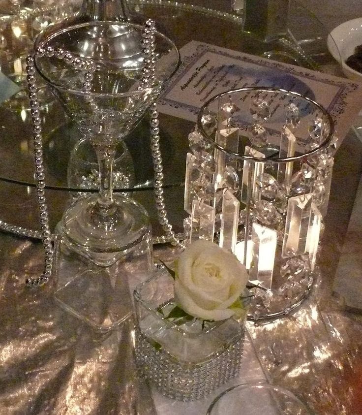 Jewel crystal candle holder
