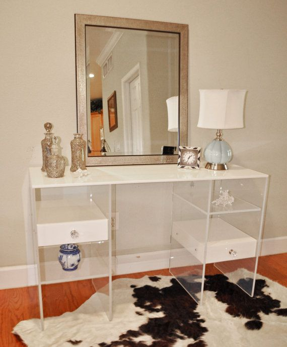 see more - Lucite Desk