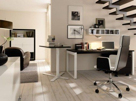 Interior, Homeoffice Writing Desk By Huelsta Office Interior Design:  Wonderful Modern Home Office Ideas Cozy Enough