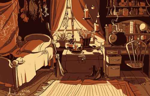 Andiree. a witch's room