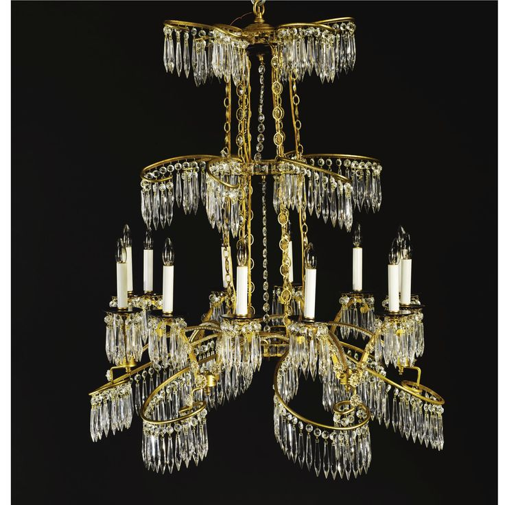 German neoclassical style gilt metal blue and cut glass mounted german neoclassical style gilt metal blue and cut glass mounted twelve light chandelier in the manner of the berlin workshop of werner and mieth aloadofball Image collections