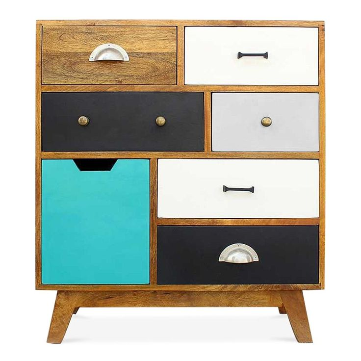 Cult Living Jasmine Multi-Coloured Chest of Drawers - Small