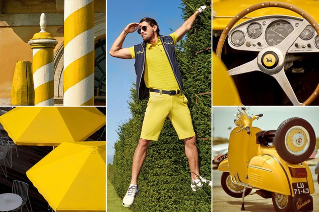 Mood of the day: Mellow Yellow. Yellow golf outfit by Chervò!