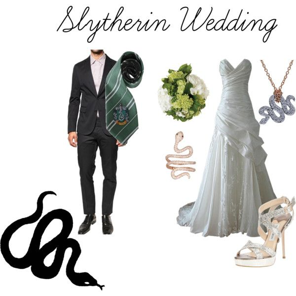 """Slytherin Wedding"" by nearlysamantha on Polyvore"
