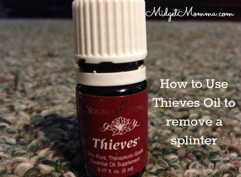 How to Remove Splinters using Thieves oil Essential oils