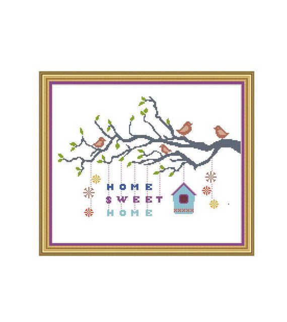 Cross stitch pattern.  This is an Instant Download PDF Cross Stitch Pattern.    SUGGESTION: Fabric: 14 count Aida Strands: 2 Stitch count 175