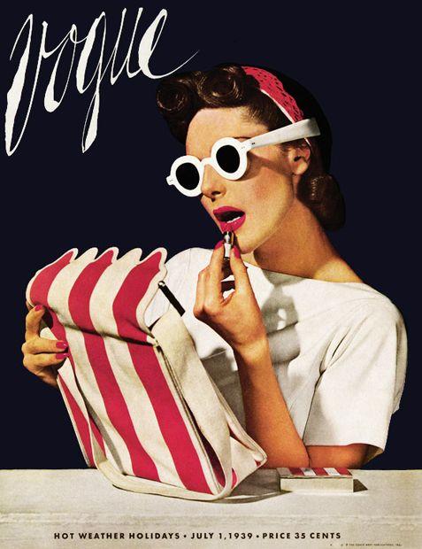 Vintage 1939 Vogue Magazine Cover
