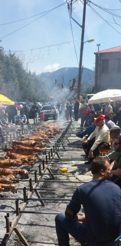 Easter in Arachova - After the fasting during Easter, its time to spit roast some lamb! In Arachova, Greece, it's a uniquely communal affair.
