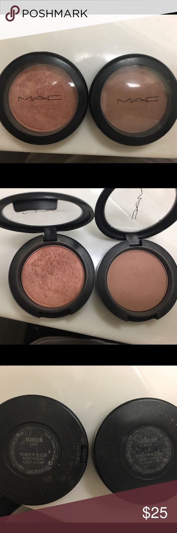 MAC Harmony & Margin Blush AUTHENTIC, rarely used , in perfect condition. selling individually (if u are interested in both lmk) MAC Cosmetics Makeup Blush