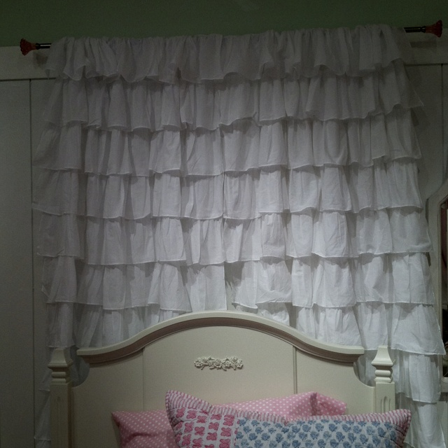 Can't wait to make my own version of this PB curtain/headboard!