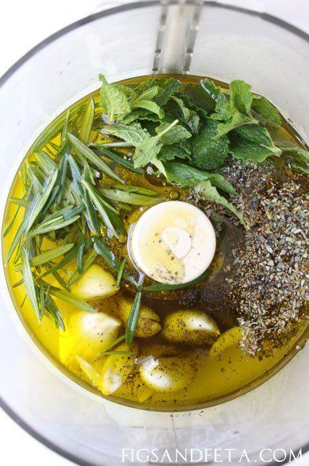Versatile Greek Marinade for Chicken, Pork or Lamb.   figsandfeta.com