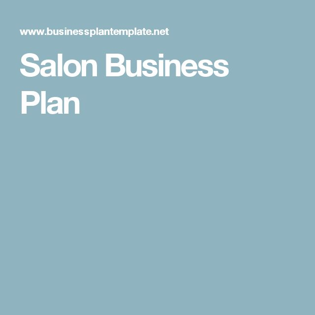 25 best ideas about salon business plan on pinterest for A salon business plan