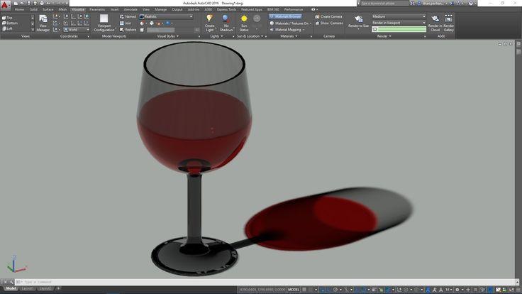 AutoCAD 3D Kadeh Çizimi