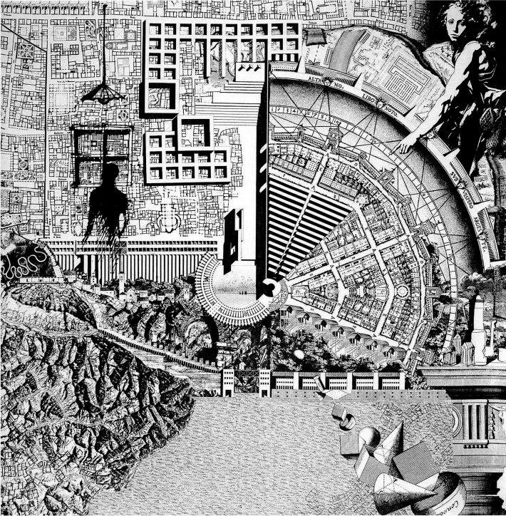 Aldo Rossi. Citta Analoga. Collage, 1977