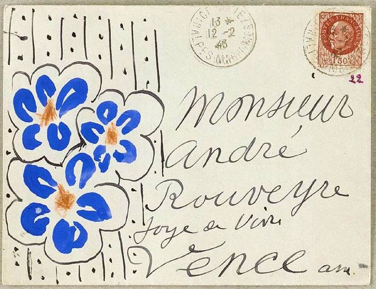 a letter sent by henri matisse