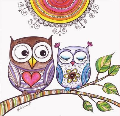 Owl Classroom, Owl Drawings, Owl Crafts, Owl Art, Colored Pencils,  Christmas Gift Ideas, Zentangle, Doodle, Painting