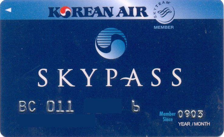 Korea Air Skypass Blue (Airlines, Korea, South) (Korean Air)