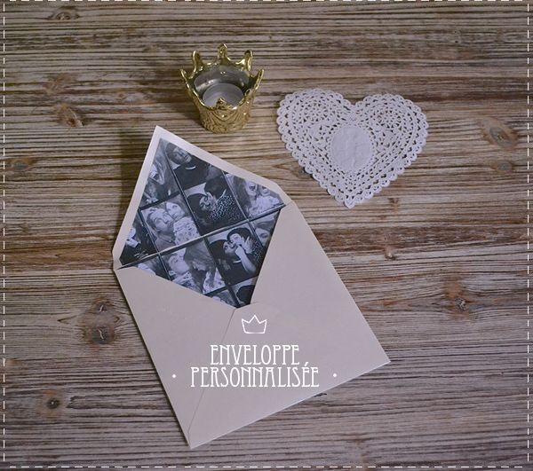 DIY enveloppe personnalisée | DIY Mariage | Queen For A Day - Blog mariage
