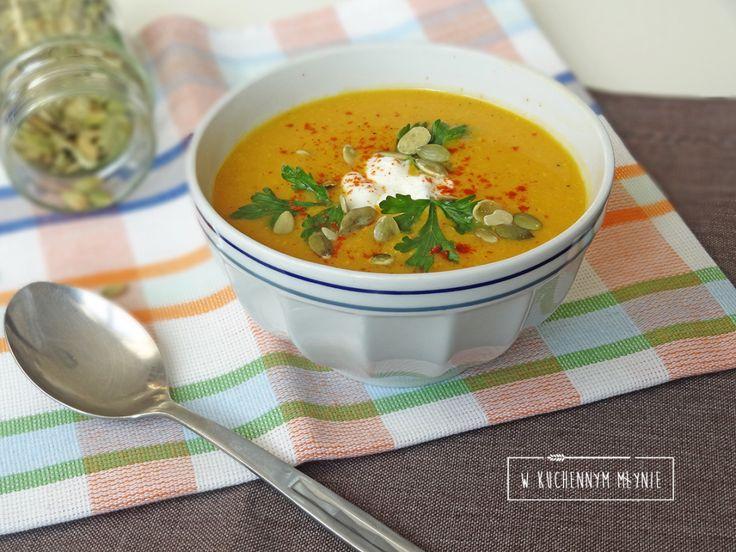 Kremowa zupa z batatów i kukurydzy