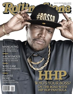 "So proud of my brother, Hip Hop Pantsula. He landed the cover of Rolling Stone South Africa!!! WHO is HHP? If you've heard ""Textual"", then you know his voice and his skill; he's the guest MC! Now, get to know the man. He's a great one. This feature is well deserved."