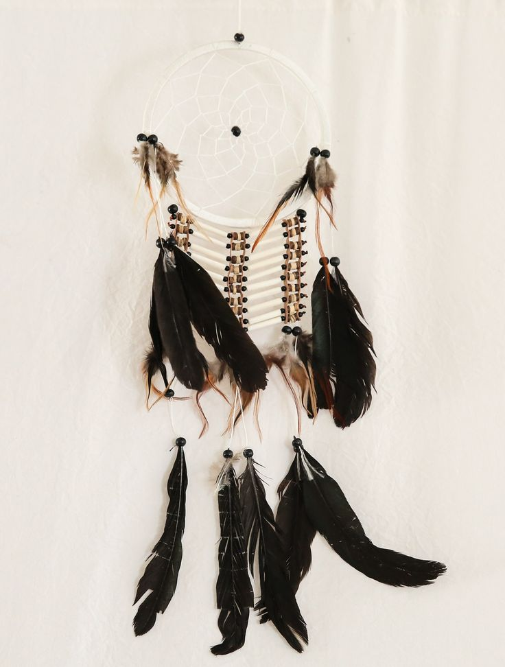 Indian boho dreamcatcher. $10 sml and medium and $20 extra large hire. Plain white with feathers also avail.