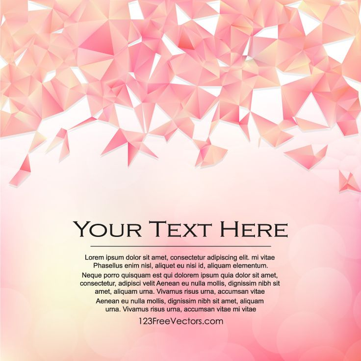 Abstract Pink Triangle Polygonal Background Design  - https://www.123freevectors.com/abstract-pink-triangle-polygonal-background-design-74347/