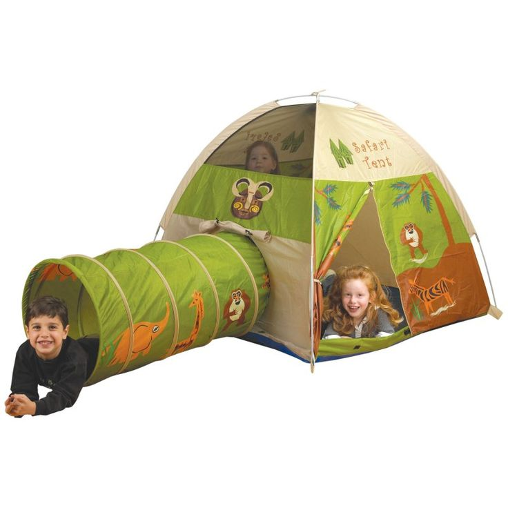 Pacific Play Tents Jungle Safari Nylon Play Tent and Tunnel Combo - 20435