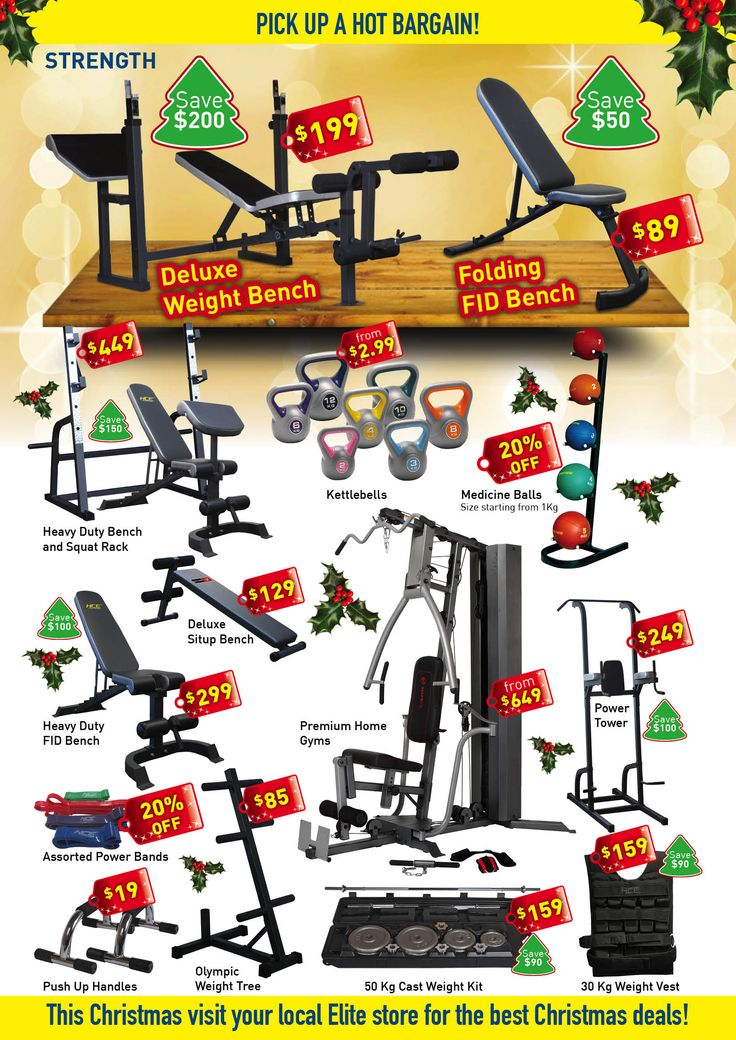 Gym Equipment Christmas Sale Fitness Equipment Gift Ideas for Christmas Weight Bench Home Gym