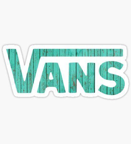 Vans Logo Wood Sticker