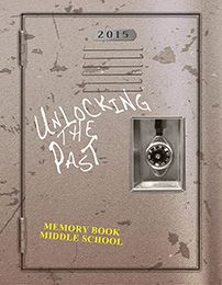 Unlocking Standard Yearbook Cover-Choose this standard cover created by the professional designers at Memory Book Company and get your school name and the year printed on it for no additional charge. Coordinating page backgrounds are also available for this cover.