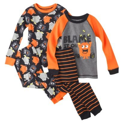 JUST ONE YOU® Made by Carters Infant Toddler Boys' Halloween 4-Piece Cotton Pajama Set - 13.49