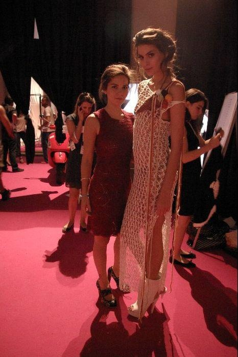 backstage of IFW 12 fashion show   me and model