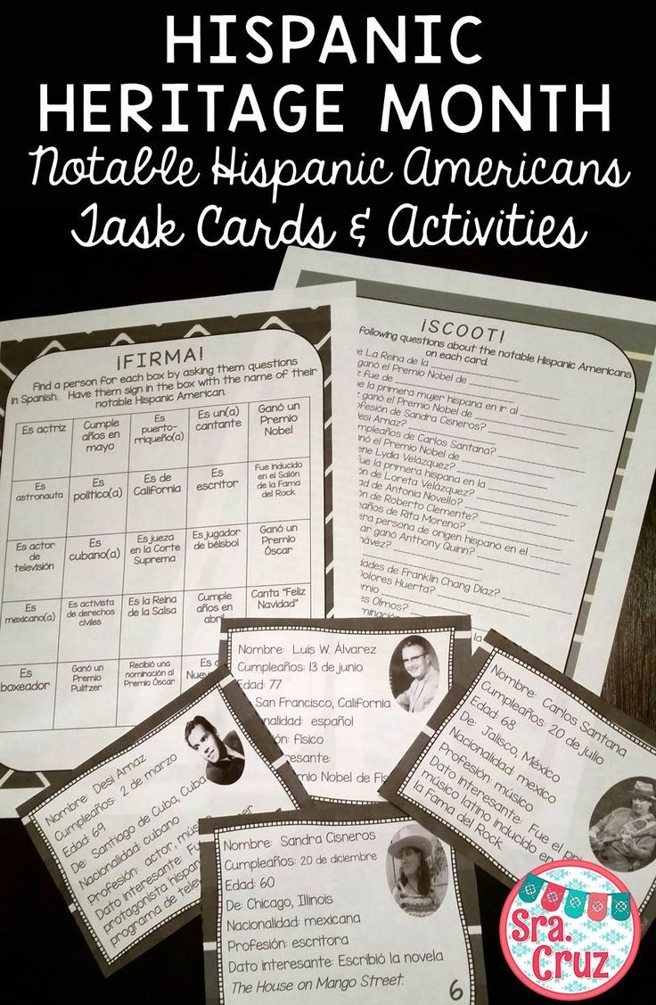 17 best ideas about hispanic american hispanic hispanic heritage month notable hispanic americans task cards