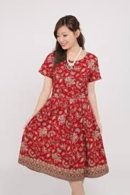 Hasil gambar untuk batik dress modern 2017