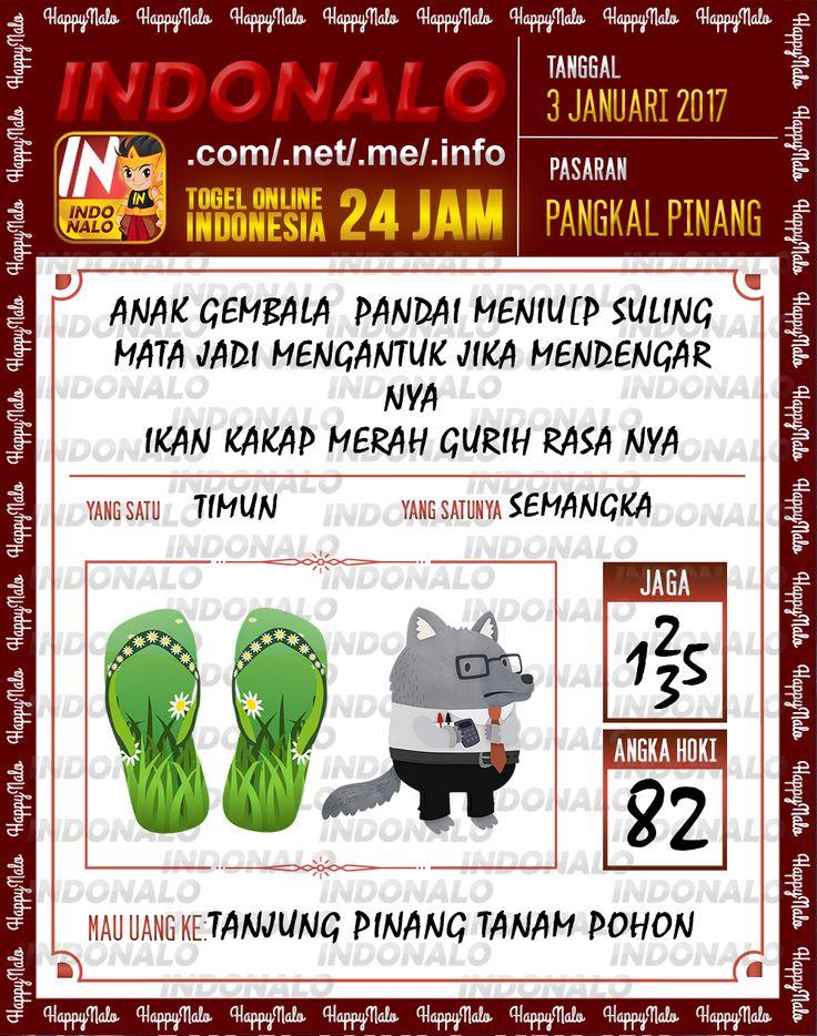 Kode Main 3D Togel Wap Online Live Draw 4D Indonalo Pangkal Pinang 3 Januari 2017