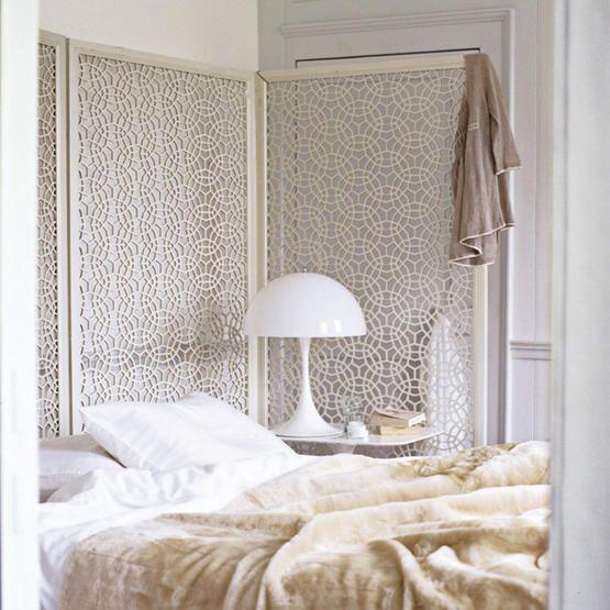 Decorative ScreenDecor, Closets Doors, Painting Screens, Interiors, White Bedrooms, Bedrooms Furniture, Bedrooms Inspiration, Bedrooms Ideas, Room Dividers