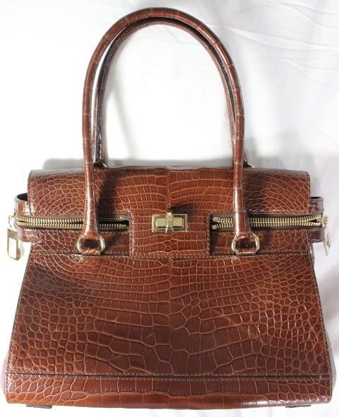 "~~~ AS CLASSY AS IT GETS ~~~ MAXMARA/MAX MARA EMBOSSED CROCODILE ""MARGAUX"" BAG #MaxMara #HandheldBag"