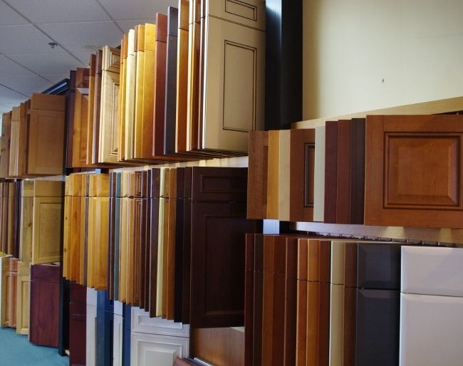 Hang Cabinet Doors In Showroom